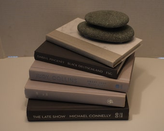 Gray Books ~ Gray Book Set ~ Gray Decorative Collection of Books ~ Gray Decorative Book Set ~ Gray Book Bundle ~ Gray Book Stack ~ Decor.