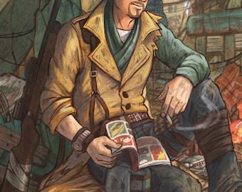 Fallout 4 MacCready 11x17 Fan Art Print