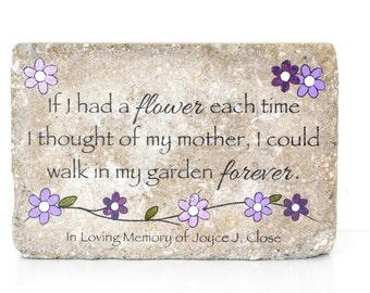 Memorial Garden Stone. Garden Decor/ Sympathy Gift/ Garden Stone/ Indoor or Outdoor/ 6x9 Concrete Rustic Decor/ In Memory of