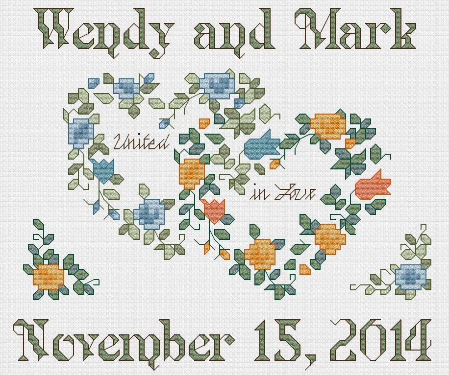 PERSONALIZED Wedding cross stitch pattern - PDF from StitchinMommy ...