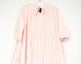 Girls Dress, Party Dress, Pleated Dress, Vintage Kids Clothes, 1960s, 5T Dress