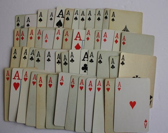 Aces Rule, Set of 14 Ace playing cards, Ace cards, swap cards,