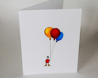 Balloons Blank Cards