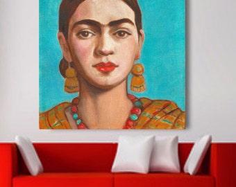 Mexican Art, Print, 30% Off, Canvas Wrap, Large Poster Mexican Folk Art,Decor Large Wa Art, Frida