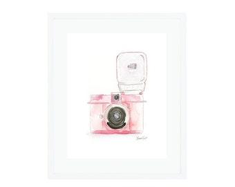 Pink Diana Flash Camera Giclee Print