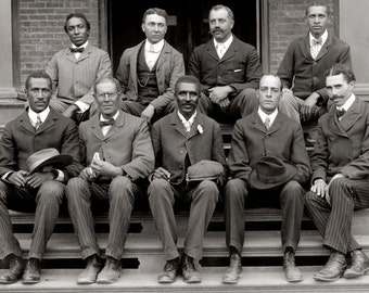 George Washington Carver, African American Men Dapper Edwardian 1902 Early 1900s Fashion Man Male Vintage Black and White Photography Photo