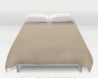 Solid Color SUEDE tan /  Duvet Cover or Comforter / Bedding Minimalist Modern Basic Art / Sizes Twin, XL Twin, Full, Queen, & King