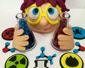 Mad Scientist Cake Topper