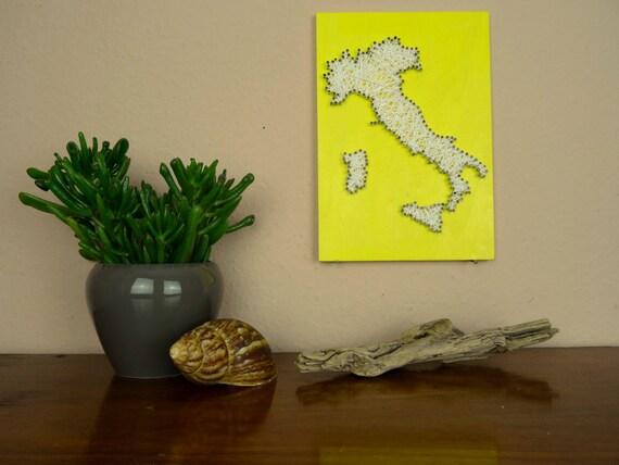 Map of Italy String Art Living Room Decor Kitchen Decor