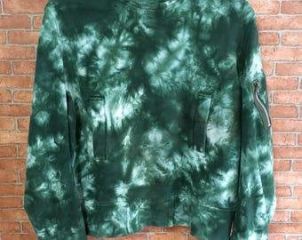 Vintage Taishi Nobokun Dude Acid Wash Sweatshirt Pullover Jumper Green M