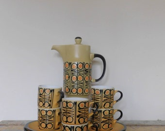 Retro Ceramic Coffee Set - Made in Japan