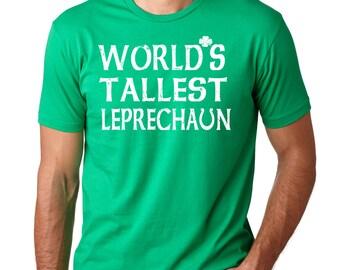 Saint Patrick T-Shirt Worlds Tallest Leprechaun Clover T-Shirt Funny St. Patrick's Day Tee Shirt