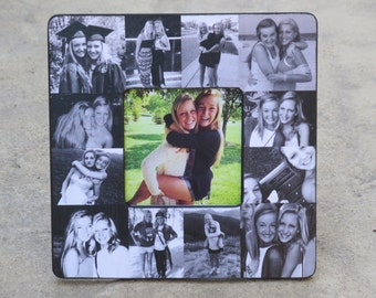 Best Friend Collage Picture Frame, Unique Graduation Gift, Personalized Sister Gift, Bridesmaid Frame, Custom Maid of Honor, Birthday Gift