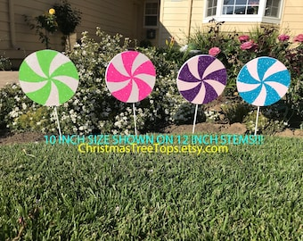Candyland Party Decorations Candy Theme Willy Wonka Giant Lollipop Candy land Party 10 Inch Birthday Party custom Color Lollipop 10 INCH