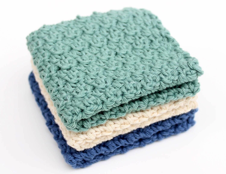 Crochet Washcloth Pattern. Crochet Dischcloth Pattern. Crochet ...