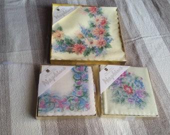 Vintage set of 3 Paper napkins in the original box  Made in Japan