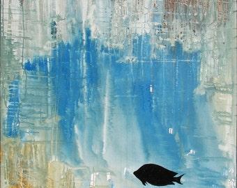"Acrylics - ""Silent screams ..."" (5), 120 cm x 120 cm - individually or as a series"