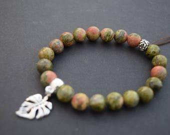 Semi-Precious Gem Bracelets with Embellishments