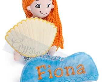 "Mermaid -Personalized Rag Doll - Approx 20"" tall"