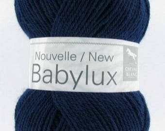baby yarn to knit BABYLUX # 094 Navy horse BL