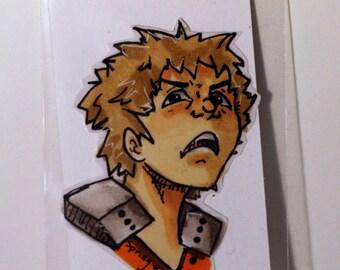 Katsuki Bakugo from Boku no Hero Academia Hand-Made Sticker
