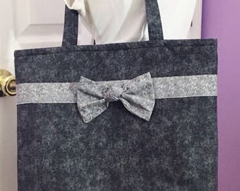 Black and Gray Small Tote Free Shipping in the US