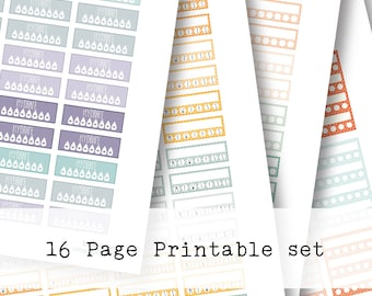 Inkwell Press Planner & other planners Trackers Printable Sticker Kit - Instant Download