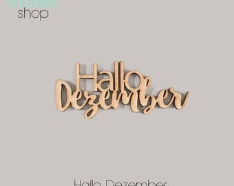 078-Hello December Wood Element