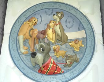 "Lady and the Tramp ""A Family at Last"" 1995 Production Sample 3D Plate"