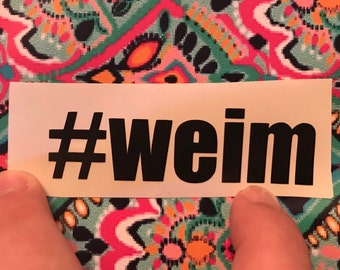 Weim Decal 1x4 inches