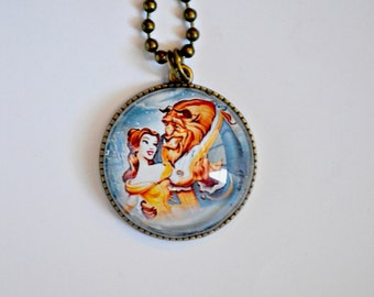 Beauty and The Beast - Disney Jewelry - Belle - Beast - Cabochon Pendant Necklace