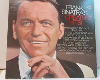 Frank Sinatra greatest hits record album vintage