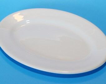 "Shenango Restaurant Ware Platter White, 10.75"" x 7"" Vintage"