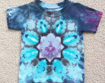 Ice Dye Tie Dye Mandala Toddler Shirt Size 18-24m - Beyond the Blue