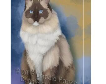 Ragdoll Cat Canvas Wall Art