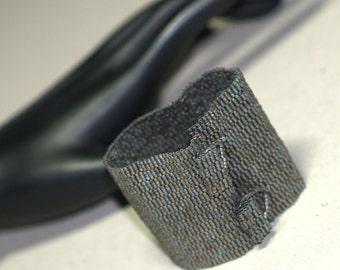 Wide Carbon Steel ... Peyote Bracelet . Beadwoven Cuff . Matte Metallic . Unisex . Steely Gray . Grey . Industrial Look . Elegant . Rugged