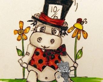 1535 Wonderland Hippo Digi Stamp