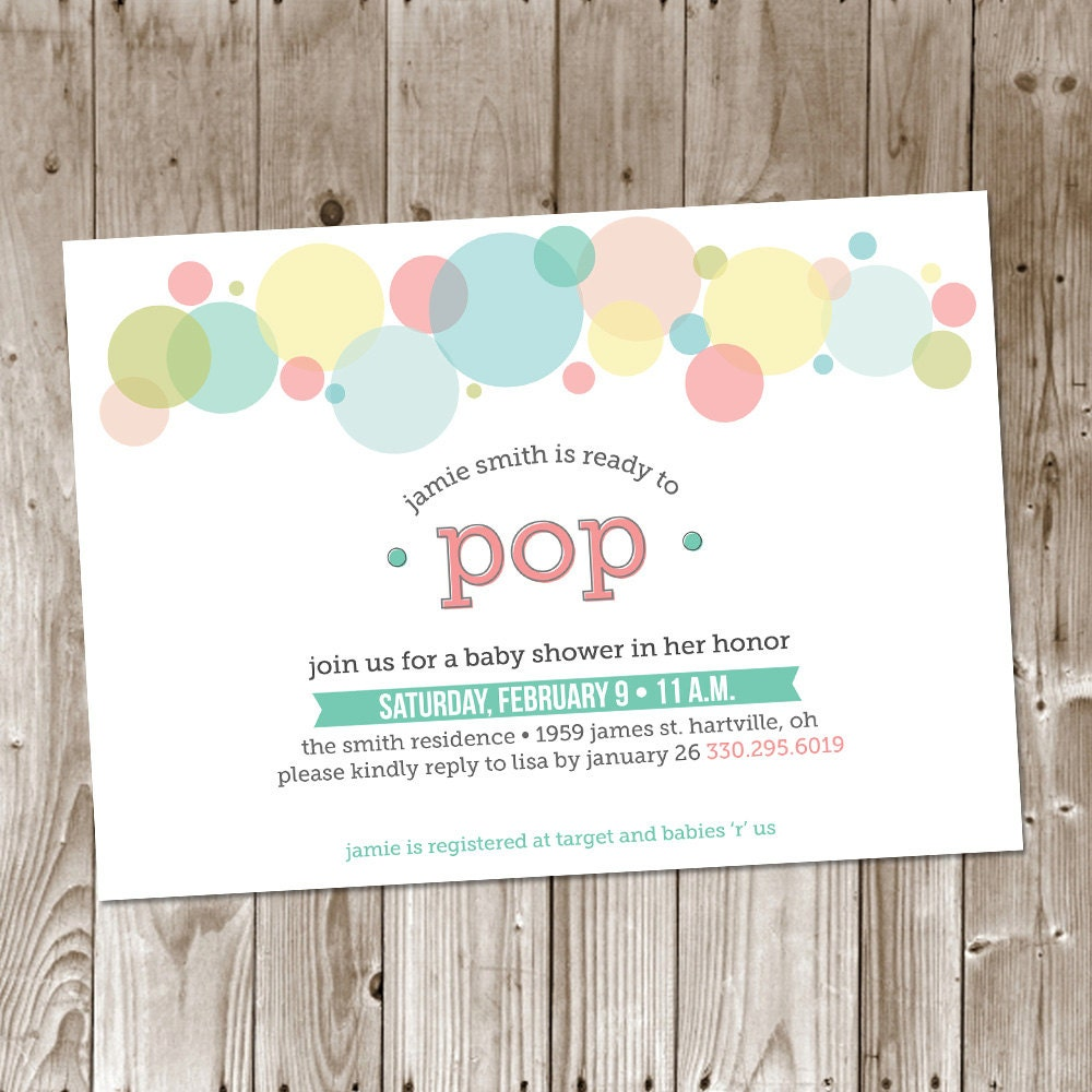 Ready to Pop Baby Shower DIY Printable Invitation Baby Boy