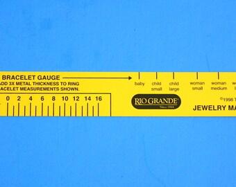 Jewelry Maker's Ruler - Bracelet and Ring Gauge