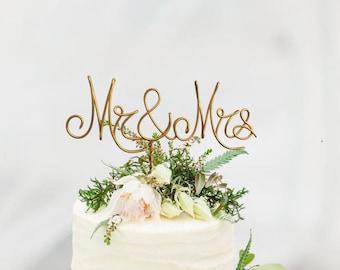 Mr mrs cake topper | Etsy