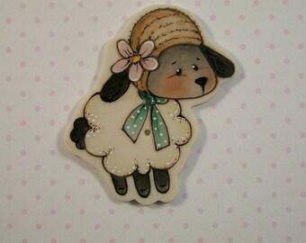 Ivy Lamb Button