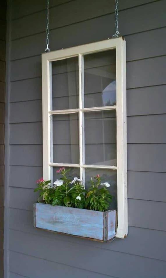 On Sale Wood Window Flower Box Window Frames Antique Wood
