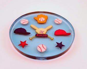 Baseball Handmade Resin Coaster