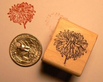 P24 Miniature rubber stamp chrysanthemum