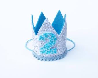 First Birthday Crown White | 2nd Birthday | Baby Boy birthday | photo prop smash cake hat | Second Birthday party Crown | Photo shoot