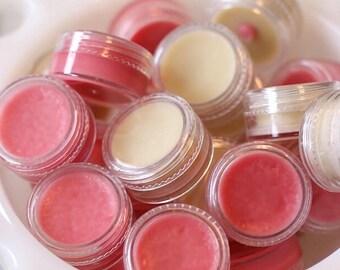 Natural homemade tinted lip balms