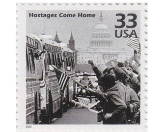 5 Unused US Postage Stamps - Celebrate the Century 1980s Series - 33c Iran Hostage Come Home - Item No. 3190d