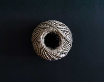 Natural Jute Twine Ball 60m - Gift wrapping, party favors, wedding decorations.