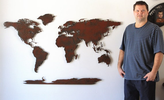 World map metal wall art 60 wide x 36 tall 5 like this item gumiabroncs Images