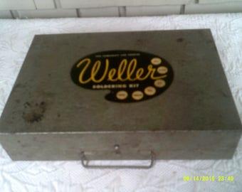 Vintage Weller 8250A Solder Gun in Original Metal Case, 250 Watts/ 120 Volts, Vtg Soldering Gun